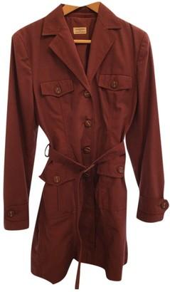 Philosophy di Alberta Ferretti \N Burgundy Cotton Trench Coat for Women