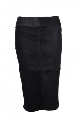 Dna Black Suede Skirt for Women