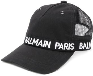Balmain contrast logo baseball cap