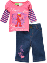 Children's Apparel Network Sesame Street Elmo Layered Top & Jeans - Infant