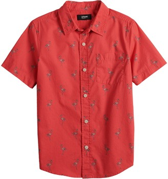 Urban Pipeline Boys 8-20 & Husky Short Sleeve Button Down Shirt