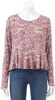 Lauren Conrad Women's Peplum Top