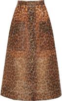 Christopher Kane Leopard-print Rubberized Midi Skirt - Leopard print