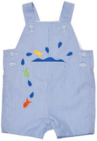 Florence Eiseman Corduroy Fish Overalls, Blue, Size 3-24 Months