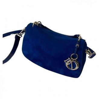 Christian Dior Blue Suede Handbags