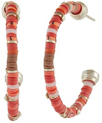 Kendra Scott Reece Small Hoop Earrings (Gold Sea Green Mix) Earring