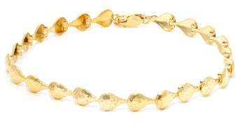 Sophia Kokosalaki Hammered Gold Plated Anklet - Womens - Gold
