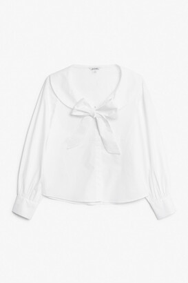 Monki Statement bow blouse