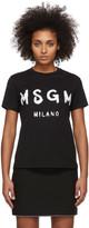 MSGM Black Artist Logo T-Shirt