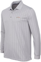 Greg Norman for Tasso Elba Men's Big & Tall Long-Sleeve Striped Polo, Only at Macy's