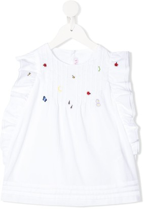 Il Gufo Embroidered Detail Blouse