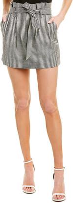 Alice + Olivia Zoya Belted Paper Bag Mini Skirt