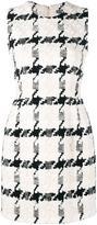 Alexander McQueen houndstooth mini dress - women - Silk/Cotton/Linen/Flax - 40
