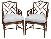 Chippendale-Style Arm Chairs