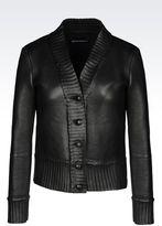 Emporio Armani Jacket In Napa Lambskin