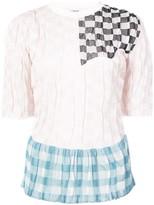 Loewe patchwork knit shortsleeved top