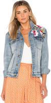 MinkPink Blossom Patch Jacket.