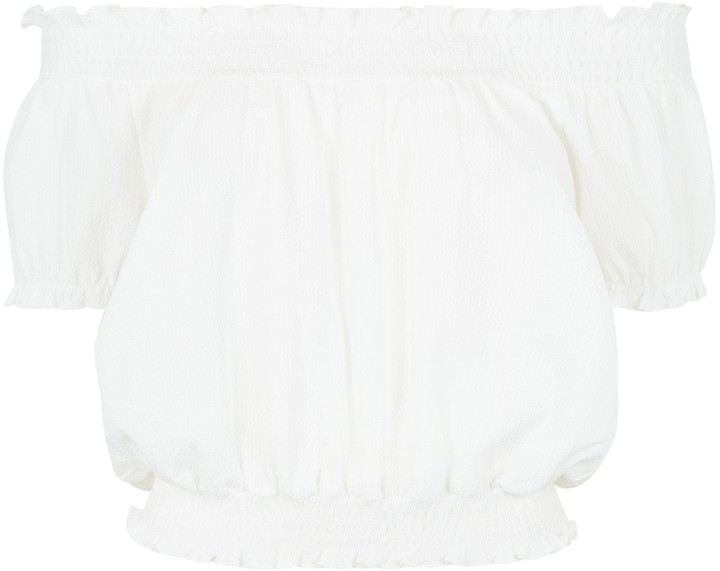 Thumbnail for your product : New Look Textured Bardot Top