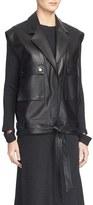 Helmut Lang Oversized Leather Vest