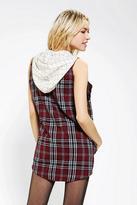 Urban Outfitters Rag Union X Urban Renewal Sleeveless Hooded Flannel Shirt