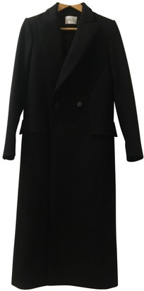 Pallas Black Wool Coat for Women