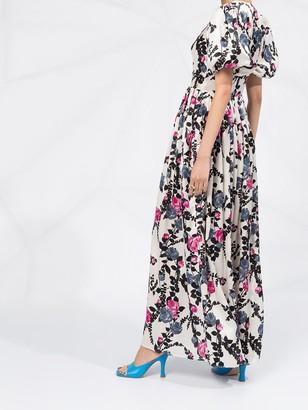La DoubleJ Persephone Puff Sleeve Floral Dress