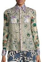 Roberto Cavalli Patchwork Silk Blouse
