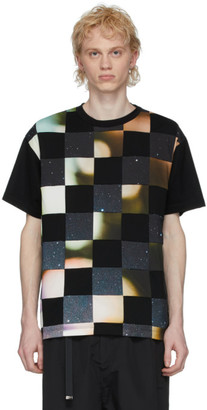 Fumito Ganryu Black Patchwork T-Shirt