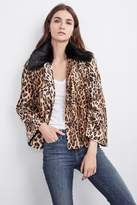Windy Faux Fur Leopard Print Jacket
