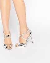 Miss KG Ellis Cross Strap Heeled Sandals