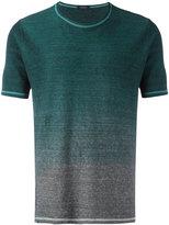 Roberto Collina gradient T-shirt - men - Cotton/Linen/Flax - 50