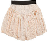Little Remix Gathered Lace Skirt-CREAM