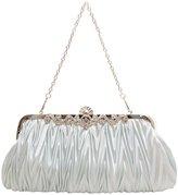 Pulama Ruffled Clutch Wallet Bag Womens Cocktail Dressy Evening Purse Handbag