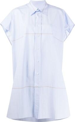 Maison Margiela Short-Sleeved Striped Shirt Dress