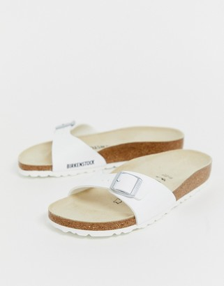 Birkenstock Madrid slide sandals in white