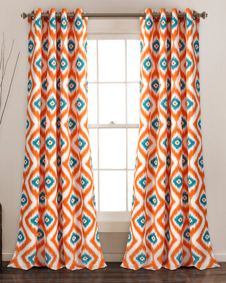 Triangle Home Fashion Diamond Ikat Room Darkening Window Curtain