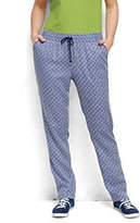 Classic Women's Plus Size Soft Pants-Royal Indigo Print