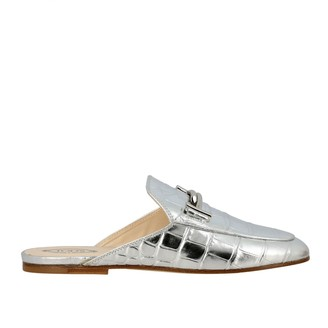 Tod's Tods Loafers Tods Sabot In Laminated Leather With Crocodile Print And Double T