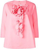 Comme des Garcons ruffled blouse - women - Cotton - S