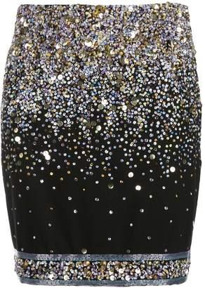 Leonard embellished mini skirt