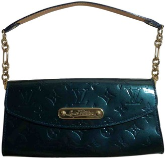 Louis Vuitton Sunset Boulevard Green Patent leather Clutch bags