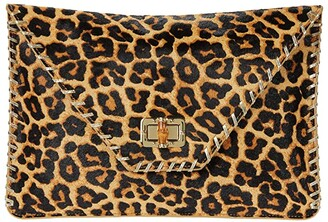 Lilly Pulitzer Celina Leopard Print Clutch (Multi Leopard Haircalf) Clutch Handbags