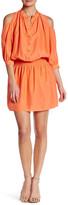 Nicole Miller Smocked Silk Shirt Dress