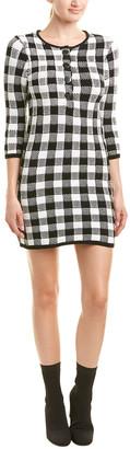 Maje Checkered Sweaterdress