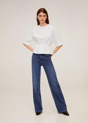 MANGO Adjustable cotton blouse white - 4 - Women
