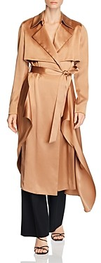 Cushnie Silk Belted Trench Coat