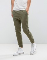 Hollister Woven Utility Jogger Slim Fit In Green