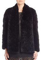 Joie Sela Two-In-One Rex Rabbit Fur Jacket