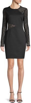BCBGMAXAZRIA Jorden Lace-Detailed Dress