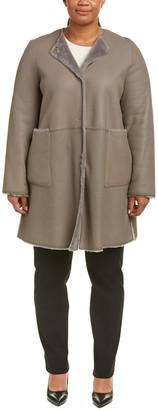 Marina Rinaldi Lambskin Coat